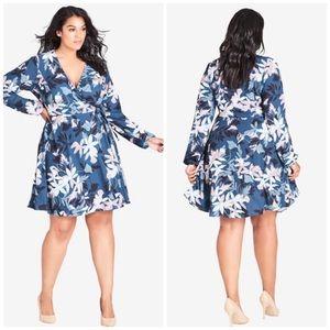 NWT City Chic Luna Floral Wrap Dress